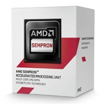 AMD Sempron 3850 @ 1.30GHz / 4C4T / 256kB L1, 2MB L2 / Radeon R3 / AM1 / Jaguar-Kabini / 25W (SD3850JAHMBOX)