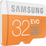 SAMSUNG micro SDHC 32GB EVO / UHS-1 / Class 10 / U1 / Čtení: 48MBps / Zápis: 48MBps (MB-MP32D/EU)