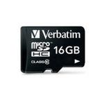 Verbatim microSDHC paměťová karta / 16GB / Class 10 / adaptér (44082)