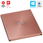 ASUS SDRW-08U5S-U / DVD±RW ext. vypalovačka / slim / USB 2.0 / růžová (90DD0114-M20000)
