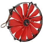 AIREN FAN RedWingsGiant 250 ventilátor / 250 x 250 x 30mm / svítící LED / červená (AIREN - FRWG250LE
