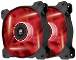 Corsair AF120 LED Red Quiet Edition Twin Pack / 2x 120 mm / Hydraulic Bearing / 25.2 dB @ 1500 RPM / 88.7 m3h / 3-pin (CO-9050016-RLED)