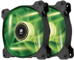 Corsair SP120 LED Green Twin Pack / 2x 120 mm / Hydraulic Bearing / 26 dB @ 1650 RPM / 97.3 m3h / 3-pin (CO-9050032-WW)