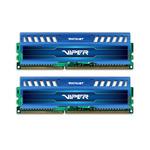 Patriot DDR3 16GB KIT / 1600Mhz / Viper3 / CL10 / Sapphire Blue (PV316G160C0KBL)