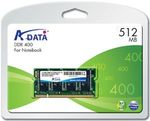ADATA 512MB / 400MHz / DDR SODIMM / CL3 (AD1S400A512M3-R/S)