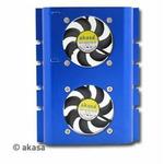 AKASA AK-HD-BL / aktivní chladič HDD / 2 ventilátory (AK-HD-BL)