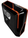 NZXT Phantom 410 Black + Orange / ATX / 2x USB 2.0 + 2x USB 3.0 / 2x 120mm + 5x 140mm / Průhledná
