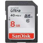 SanDisk SDHC 8 GB Ultra / 40MB/s / UHS-I / class 10/U1 (124056)