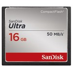 SanDisk Compact Flash Ultra 16GB / rychlost až 50MB/s (SDCFHS-016G-G46)