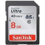 SanDisk ULTRA SDHC 8GB / Class 10 / čtení až 40MB/s / vhodné pro FHD (SDSDUN-008G-G46)