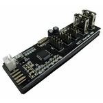 NZXT IU01 interní USB řadič / 6x interní USB 2.0 (3x 7-pin USB header) / 2x externí USB 2.0 (IU01)