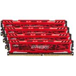 CRUCIAL Ballistix Sport LT Red 16GB(4x4GB) / DDR4 / 2400MHz / PC4-19200 / CL16 / 1.2V / Single Ranked x8 (BLS4C4G4D240FSE)