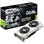 ASUS DUAL-GTX1060-6G / 1506-1708MHz / 6GB D5 8GHz / 192-bit / DVI, 2x HDMI, 2x DP / 150W (6) (90YV09X4-M0NA00)