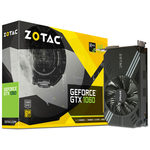 ZOTAC GeForce GTX 1060 Mini / 1506-1708MHz / 6GB D5 8GHz / 192-bit / DVI, HDMI, 3x DP / 225W (8) (ZT-P10600A-10L)
