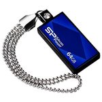 SILICON POWER Drive Touch 810 modrá / 64GB / Flash Disk / USB 2.0 (SP064GBUF2810V1B)