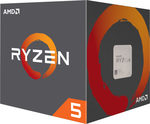 AMD RYZEN 5 1600 @ 3.2GHz / Turbo 3.6GHz / 6C12T / 576kB L1 3MB L2 16MB L3 / AM4 / Zen-Summit Ridge / 65W (YD1600BBAEBOX)