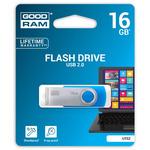 GOODRAM UTS2 16GB modrá / Flash disk / USB 2.0 / čtení: 20MBs / zápis: 5MBs (UTS2-0160B0R11)