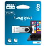 GOODRAM UTS2 8GB černá / Flash disk / USB 2.0 / čtení: 20MBs / zápis: 5MBs (UTS2-0080K0R11)