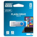 GOODRAM UTS2 8GB modrá / Flash disk / USB 2.0 / čtení: 20MBs / zápis: 5MBs (UTS2-0080B0R11)