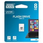 GOODRAM UPI2 8GB bílá / Flash disk / USB 2.0 / čtení: 20MBs / zápis: 5MBs (UPI2-0080W0R11)