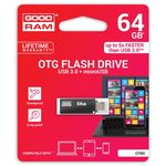 GOODRAM OTN3 64GB černá / Flash disk / USB 3.0 microUSB / OTG / čtení: 60MBs / zápis: 20MBs (OTN3-0640K0R11)