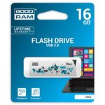 GOODRAM UCL2 16GB bílá / Flash disk / USB 2.0 / čtení: 20MBs / zápis: 5MBs (UCL2-0160W0R11)
