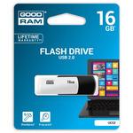 GOODRAM UCO2 16GB černo-bílá / Flash disk / USB 2.0 / čtení: 20MBs / zápis: 5MBs (UCO2-0160KWR11)