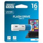 GOODRAM UCO2 16GB modro-bílá / Flash disk / USB 2.0 / čtení: 20MBs / zápis: 5MBs (UCO2-0160MXR11)
