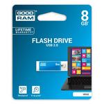 GOODRAM UCU2 8GB modrá / Flash disk / USB 2.0 / čtení: 20MBs / zápis: 5MBs (UCU2-0080B0R11)