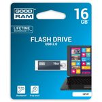 GOODRAM UCU2 16GB šedá / Flash disk / USB 2.0 / čtení: 20MBs / zápis: 5MBs (UCU2-0160E0R11)