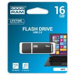 GOODRAM UMO2 16GB černá bílá / Flash disk / USB 2.0 / čtení: 20MBs / zápis: 5MBs (UMO2-0160WER11)