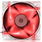 EVOLVEO ventilátor 140mm LED červený (FAN 14 RED)