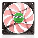 EVOLVEO ventilátor 120mm LED červený (FAN 12 RED)