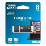 GOODRAM UMO2 8GB černá / Flash disk / USB 2.0 / čtení: 20MBs / zápis: 5MBs (UMO2-0080E0R11)