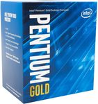 Intel Pentium Gold G5400 @ 3.7GHz / 2C4T / 64kB 512kB 4MB / UHD Graphics 610 / 1151 / Coffee Lake / 58W (BX80684G5400)