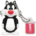 EMTEC L101 Sylvester 16GB černo-bílá / Flash disk / USB 2.0 / čtení: 15MBs / zápis: 5MBs (ECMMD16GL101)
