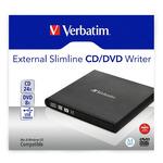 VERBATIM Slimline externí vypalovačka CD-DVD černá / USB 2.0 / se softwarem Nero Burn Archive (98938)
