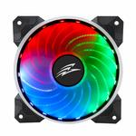 EVOLVEO 12R1R Rainbow / RGB ventilátor / 120 mm / Rifle Bearing / 15 dB @ 1200 RPM / 32 CFM / PWM / 5V / 6-pin (rgb-fan-12r1r)