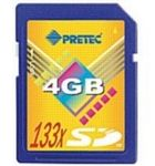 Pretec SD karta Cheetah 133x 4GB