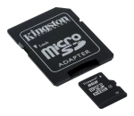 Kingston micro SDHC karta 8GB Class 4 + adapt�r