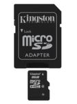 Kingston micro SDHC karta 8GB Class 10 + adapt�r