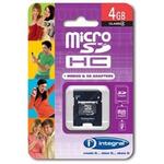 Integral Memory micro SDHC karta 4GB Class 4 + adaptér (INMSDH4G4V2)