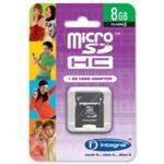 Integral Memory micro SDHC karta 8GB Class 4 + adaptér (INMSDH8G4V2)