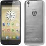 PRESTIGIO MultiPhone 5508 DUO / 5 / Dual SIM / IPS / O-C 1.7Ghz / 1GB / 16GB / 13/5Mpx / Android 4.4 / stříbrná (PSP5508DUOMETAL)