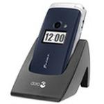 Doro Primo 413 / 2.4 / tlačítko rychlé pomoci / svítilna / stojánek / modrý (DO00021)