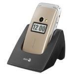 Doro Primo 413 / 2.4 / tlačítko rychlé pomoci / svítilna / stojánek / zlatý (DO00031)