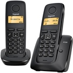 SIEMENS Gigaset A120 DUO / DECT/ GAP / bezdrátový telefon / černý (GIGASET-A120-DUO)