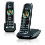 SIEMENS Gigaset C530 DUO / DECT/ GAP / bezdrátový telefon / černá (GIGASET-C530 DUO)