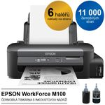 EPSON WorkForce M100 / inkoustová tiskárna / černobílá / černá (C11CC84301)