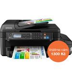 Epson L655 / 4800 x 1200 / A4 / MFZ / LCD / 4 barvy / Duplex / ADF / Fax / Wi-Fi / USB (C11CE71401)